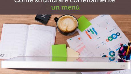 Come strutturare correttamente un menù