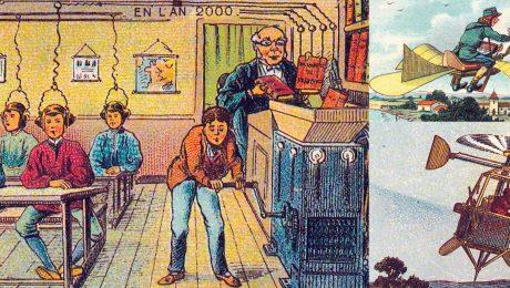 Illustrazioni futuristiche - il 2000 del 1899
