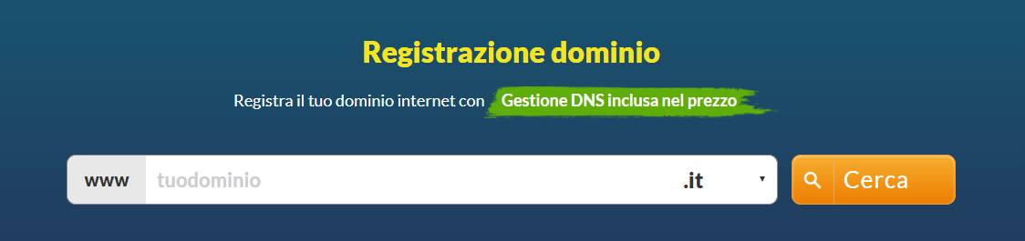 registrazione dominio internet